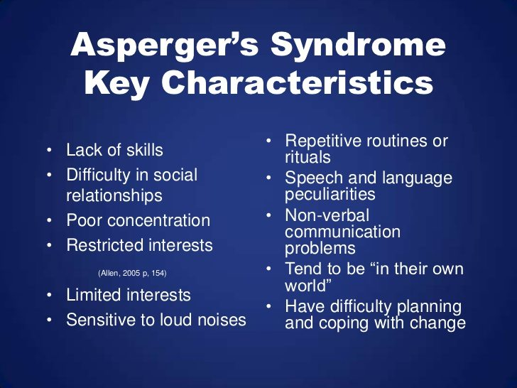 Asperger's Syndrome - Key Characteristics