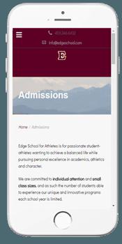 Edge School - Admissions