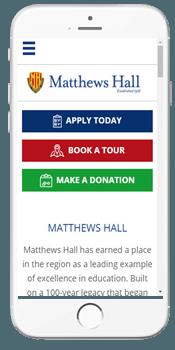 Matthews Hall - Admissions