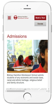 Bishop Hamilton Montessori School - Admissions