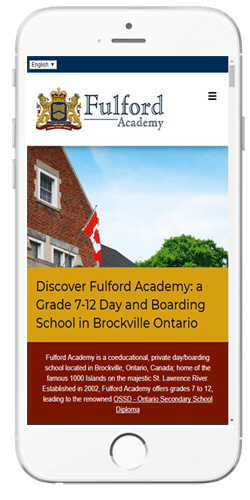 Fulford Academy - Admissions Information