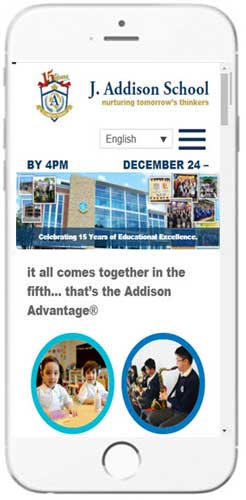 J. Addison School - Admissions Info