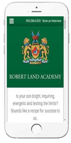 Robert Land Academy - Admissions Information