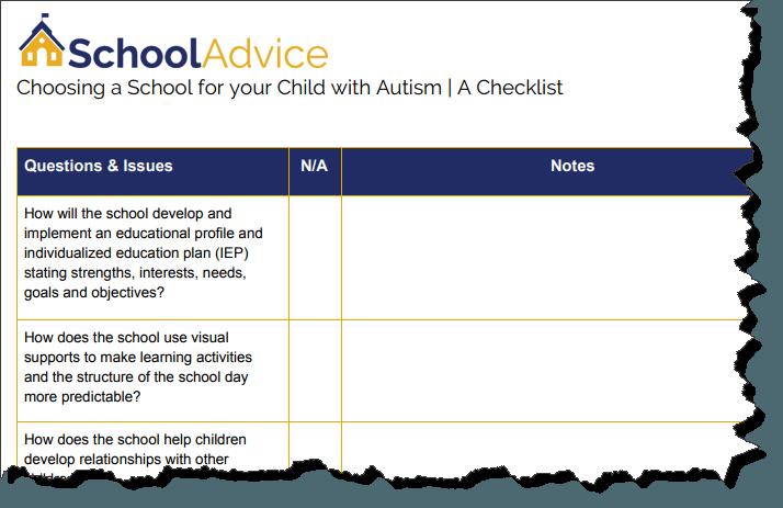 schools for children with autism