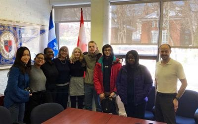 Buxton School visits St. George's School of Montreal