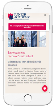 Junior Academy - Admissions Information