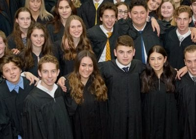 graduating students at the Toronto Prep School