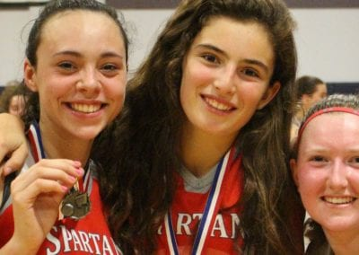 female basketball winners at Toronto Prep school