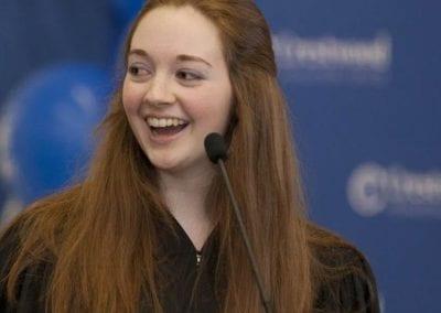 Student speaking at Crestwood Preparatory College
