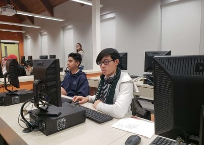 Durham Academy Secondary School students in the computer lab