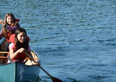 La Citadelle International Academy students on the lake in canoes