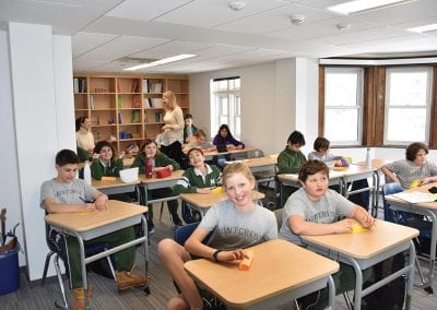 Students in the classroom at Montcrest School