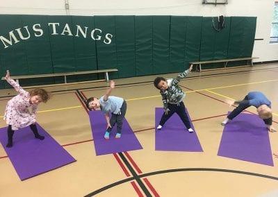 Kindergarten gym class at Montcrest School