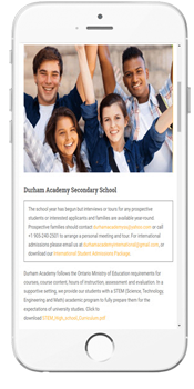Durham Academy - Admissions Info