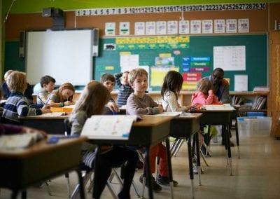 Students in clas at Lycée Français de Toronto