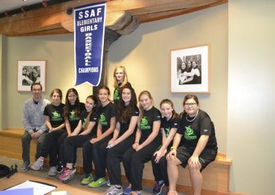 Girls' basketball team at Voice Integrative School