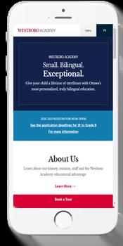 Académie Westboro Academy - Admissions Information