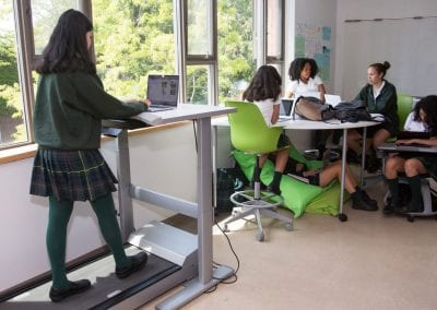 Branksome Hall girls working on school project
