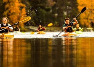 Shawnigan Lake students in kayak race