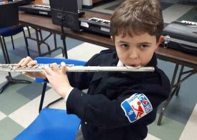 St. Peter's ACHS College flute player