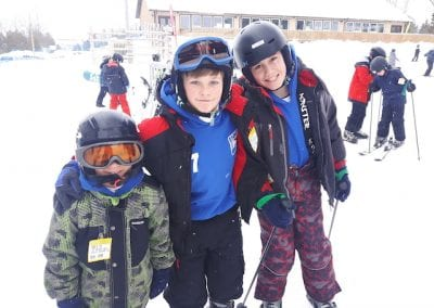 St. Peter's ACHS College students on the ski slope