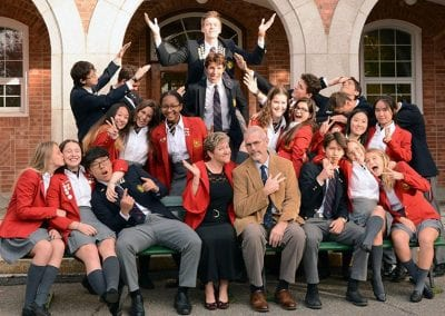 Stanstead College students and teachers